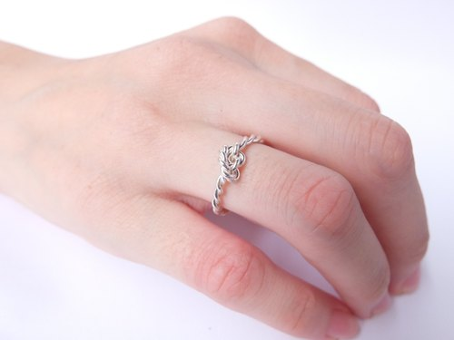 Crystallization Silver Ring