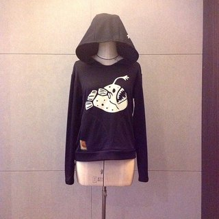 Design No.AF100 - 【Shining in the darkness】Anglerfish Hoodies#M Size
