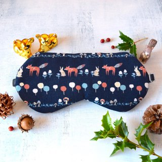 winter animals/Navy/sleep mask/winter/christmas