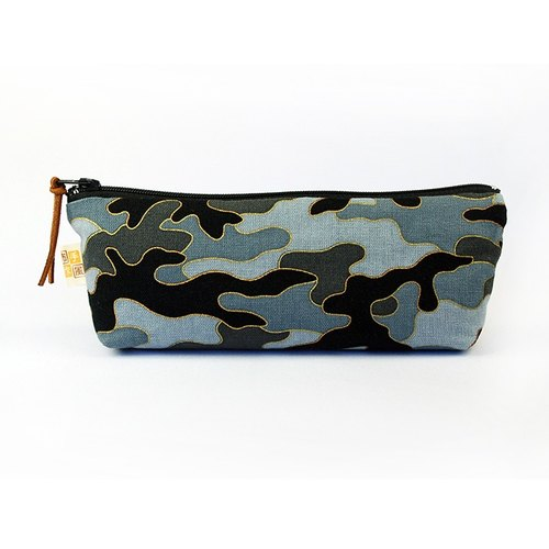 Phnom Penh gray camouflage pencil bag