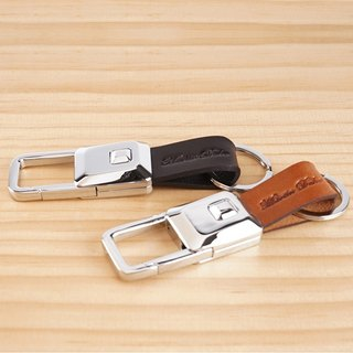 Martin Duke LED Leather Key Chain Square