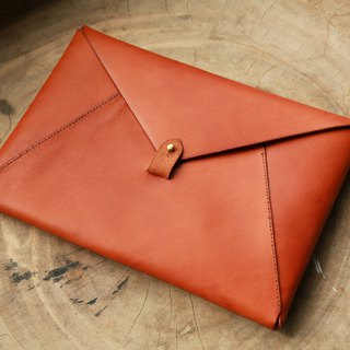 Envelope Handstitched Notebook Bag, Personalised Document Bag, Business, Clutch