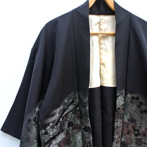 │Slowly│ Japanese Antiques - Light kimono coat J17│ .vintage retro vintage theatrical...