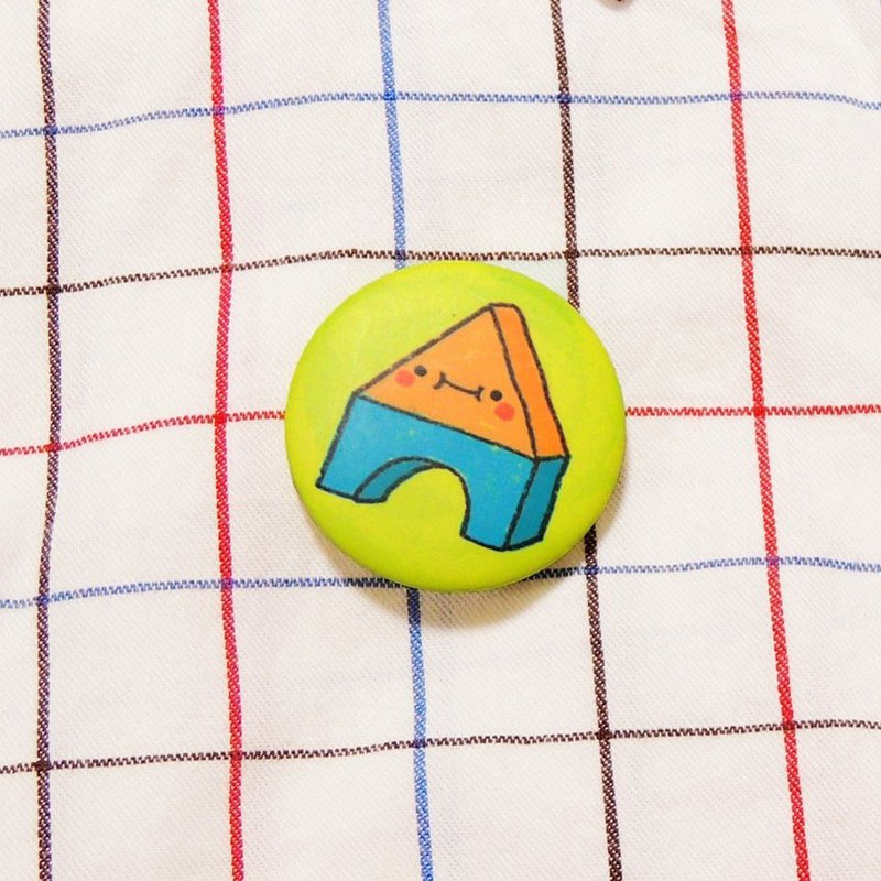 Building blocks - round small badge