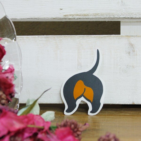[Reflective stickers] short-haired dachshund ass Sausagedog's Butt 3.7 * 6.3 cm