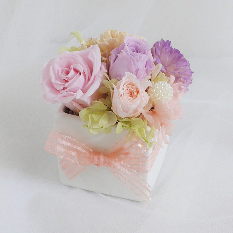 Kinki Mummy Little Baby 8 Pink Purple Non-withered Flowers Rose Carnation Mother's Day Dry Flower
