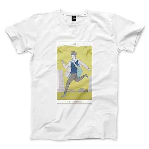 VII | The Chariot - White - Unisex T-Shirt