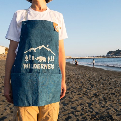 Order production Indigo dyed Aizen - WILDERNESS WORK APRON 10 oz CANVAS SIZE-M