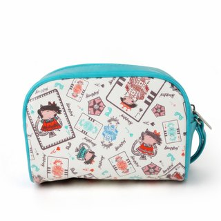 Stephy Peak play female art design print cosmetic bag / storage bag SB106-CH