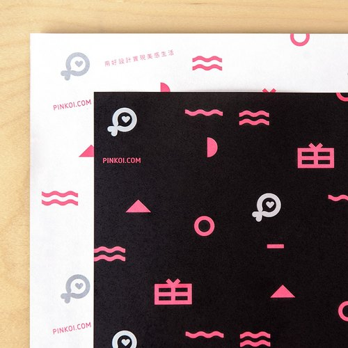 Pinkoi Wrapping Paper (Black) - 10 Sheets