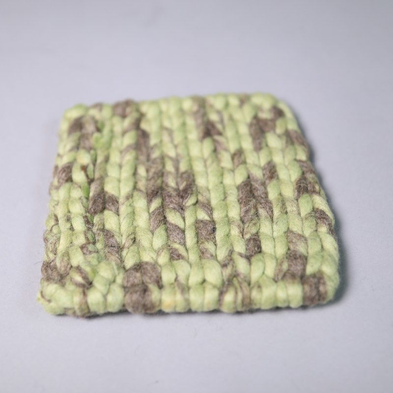 Wool strip placemat-Matcha-fair trade