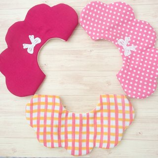 BABY BIB, 口水巾, Set of 3, Scalloped Bib, Reersible, Baby Girl Gift, Japanese Bib