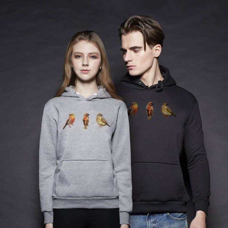 British Fashion Brand [Baker Street] Birds Printed Hoodie