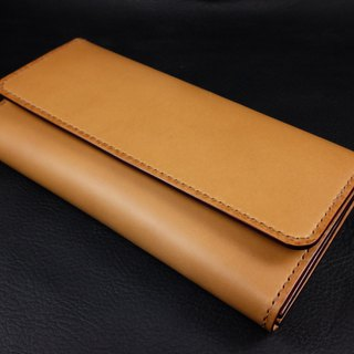 KH - Camel Flip Long Clip (Italian Vegetable Tanned Leather)