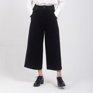 kitann ino original independent high waist nine straight wild wide leg pants