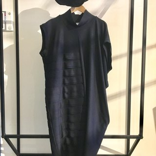 Black asymmetrical oversized dress