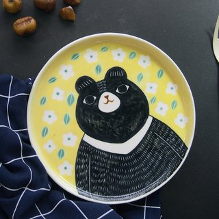 A Happy Bear (L) l ceramics l May&Clay Ceramics Studio