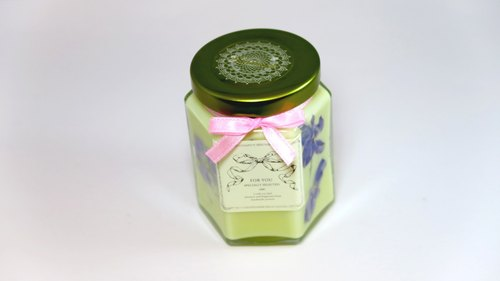 【Miss coco fragrance log】 love fragrance Gemini ♥ flowers fragrant soy candle bottle
