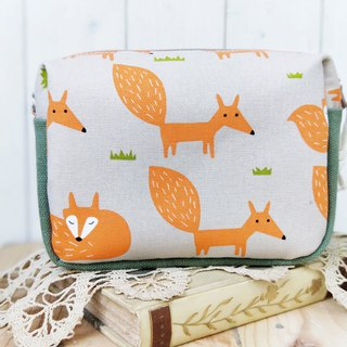 [Good day hand made] Handmade. Walking fox / universal bag / cross-body bag / shoulder bag