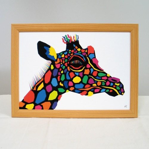 Painting illustrations Art giraffe giraffe Giraffe A4-K02