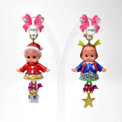 TIMBEE LO Santa Claus Christmas Baby Fawn Baby Angel Earrings