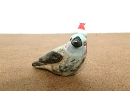 Christmas little bird stockball · rightward (pottery)