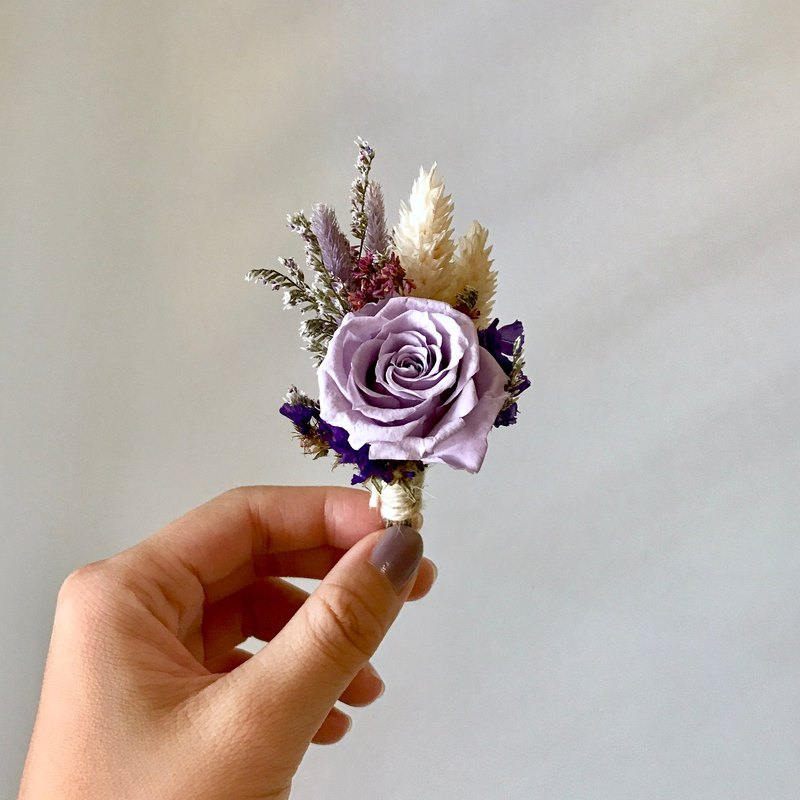Do not mix dry flowers rose brooch (Lavender)