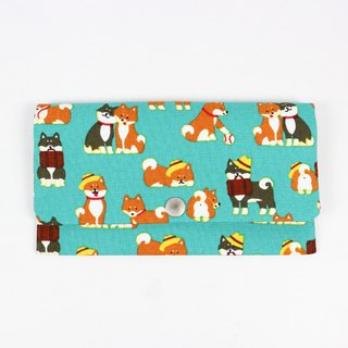 Red Bag Passbook Cash Storage Bag - Travel Shiba Inu