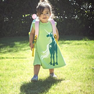 【Canadian brand】 organic cotton dress / Tong-Unicorn Size: 2Y