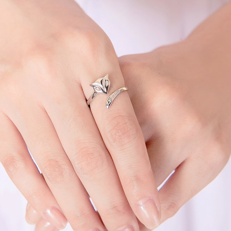 Peach Fox 925 Sterling Silver Live Ring