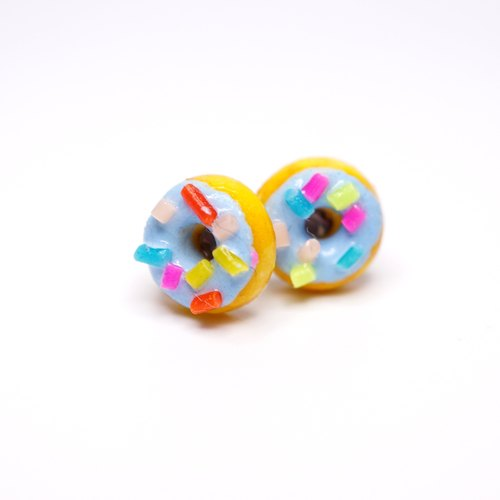 *Playful Design* Mini Mint Donuts Earrings