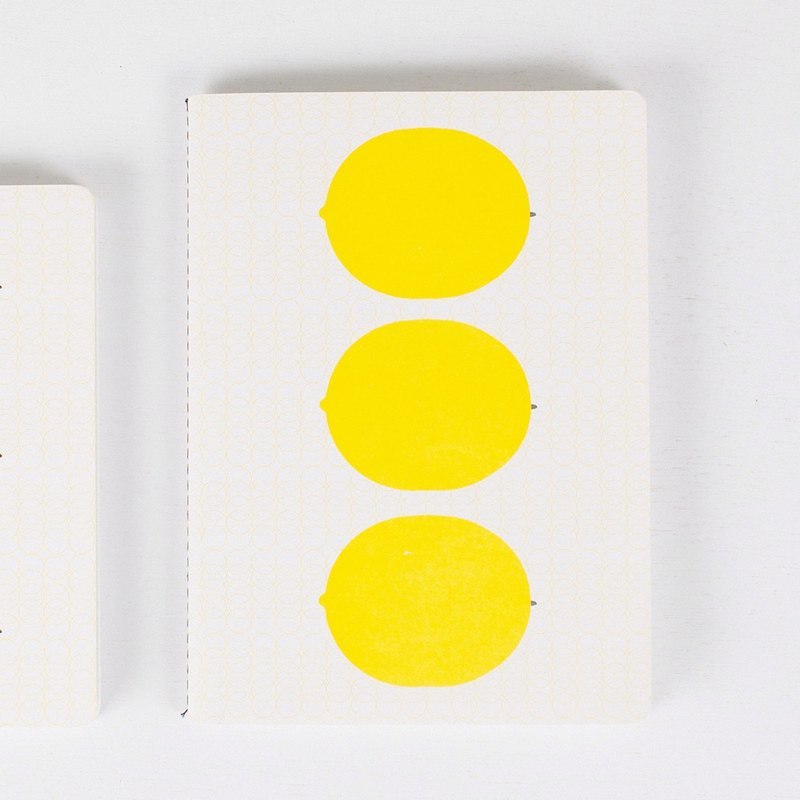 Mushroom MOGU / Basic Notebook / Large / Yellow Lemon
