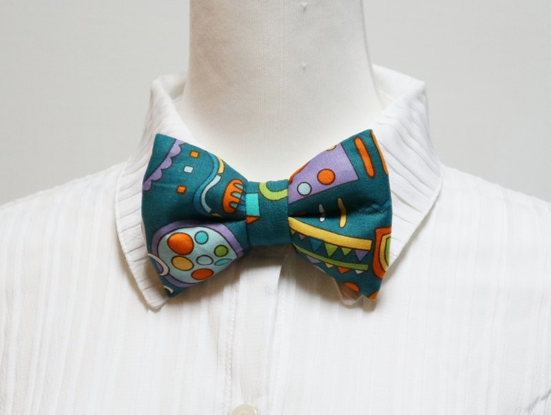 Green Kingdom handmade three-dimensional bow tie bow tie*SK*