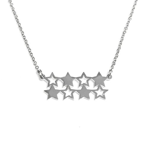 Small star in bar shape  pendant
