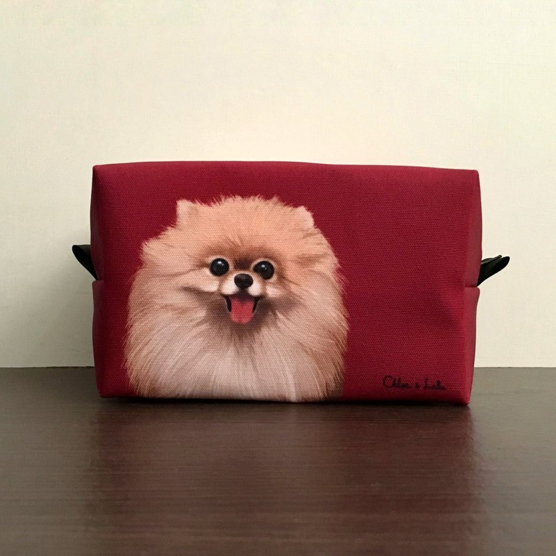 Classic Wang Meow Cosmetic Bag / Storage Bag-Brown Pomeranian