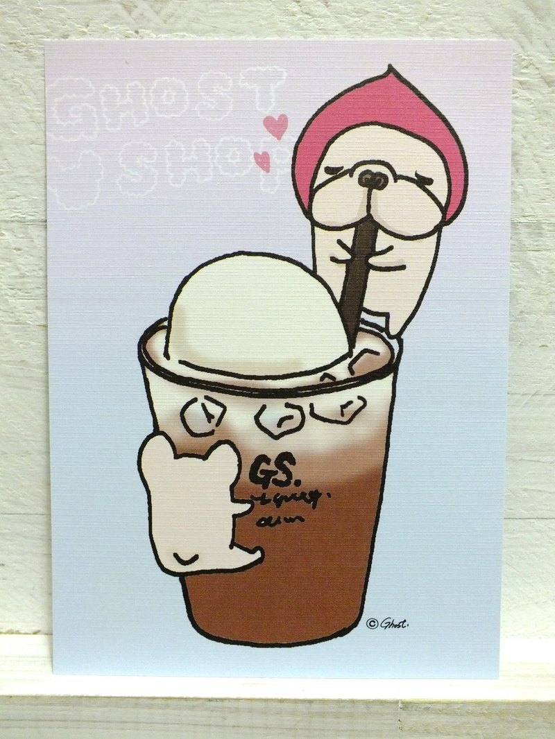 (sold out) floating black tea law bucket - postcard