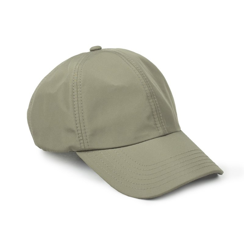 Water Repellent Plain Cap (Gray Green)
