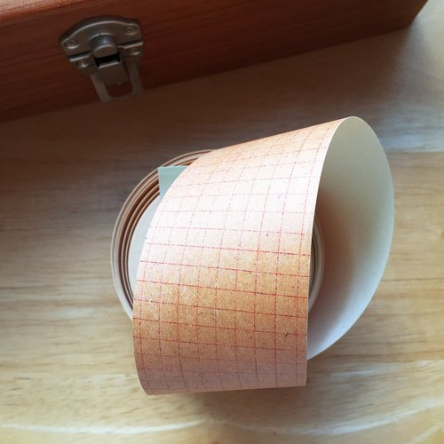 Kurashiki Carpenter x Kawakami Yoko Kraft Paper Tape 【45mm red square eye (45214-01)】