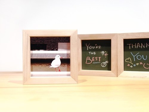 Double-sided wooden frame (photo + blackboard custom models)