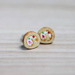 Pocket Cake Roll Earrings Miniature Sweet Roll Cake Earring
