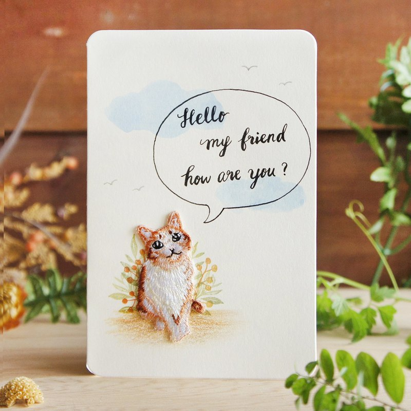 Universal Card/Blessing Card/Consolation Card/Friendly Card - Greetings from Cats - Handmade Custom Cards
