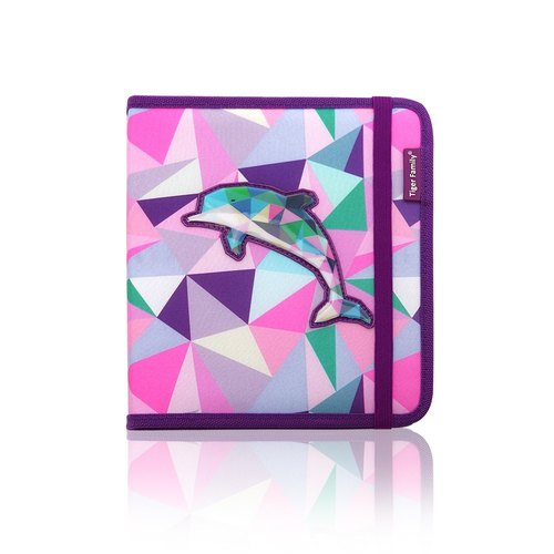 Tiger Family Painted Graffiti Stationery Group (Small) - Geometric Dolphin
