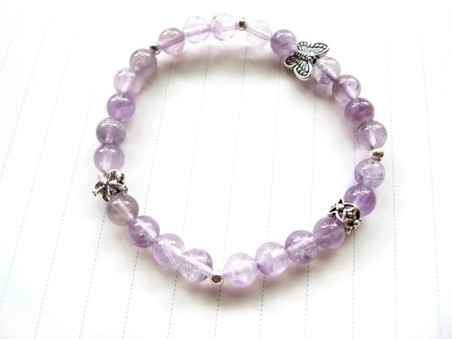 [Purple] lavender purple jade (amethyst) x 925 silver - hand-made natural stone series
