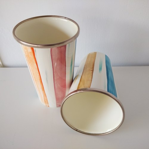 Color Striped Painted Cup | Cups | Penholder | Flower