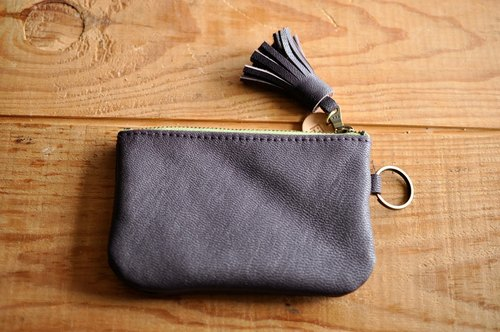 CC09 sheep lara key purse - grape violet