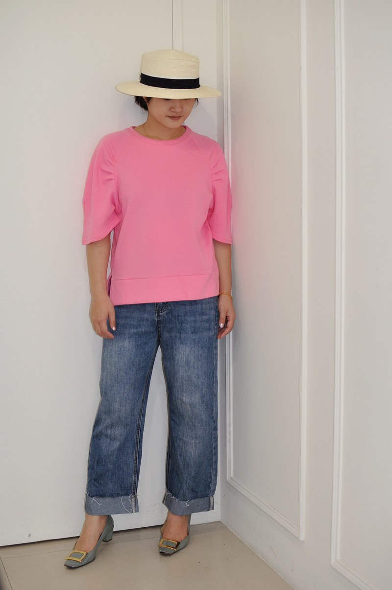 Flat 135 X Taiwan designer series reverse-cut cropped jeans straight-leg pants