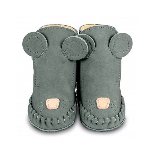 Netherlands Donsje leather bristles animal modeling boots baby shoes children's shoes dark gray mouse 517-KL004 / 0579-NL122-ST004
