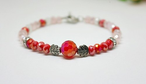 Czech crystal _ @ red star can change elastic bracelet // ➪ Limited X1