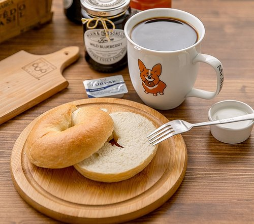Mr. Mr. Butter Cafe natural yeast cream handmade bagel flavor into 5