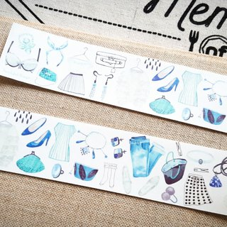 [Hoppy] Mini Box-Clothes2 clothes blue paper tape / GTIN: 4713077970843